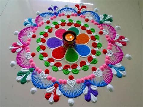 rangoli innovative themes very easy innovative rangoli design step by step