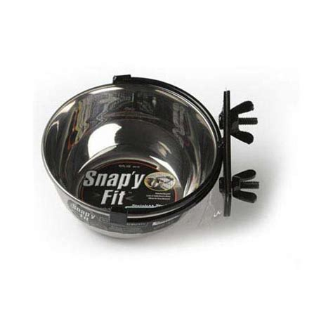 feed bowl stainless steel midwest stainless steel snap y fit water and feed bowl 10 oz mw40 10