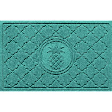 pineapple rubber st turquoise door mat quot this is my happy place quot 18 quot x 30