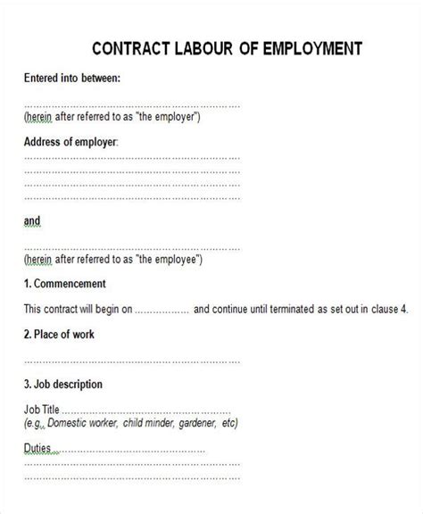 appointment letter format for contract employees appointment letter format for contract employees 28