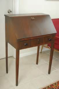 Small Drop Front Desk Vintage Mandel Broth Small Mahogany Bureau Drop Front Top Writing Desk Ebay