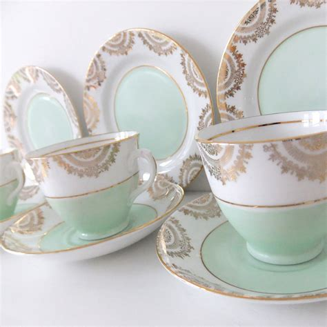 vintage china vintage china tea set phoenix china in mint green