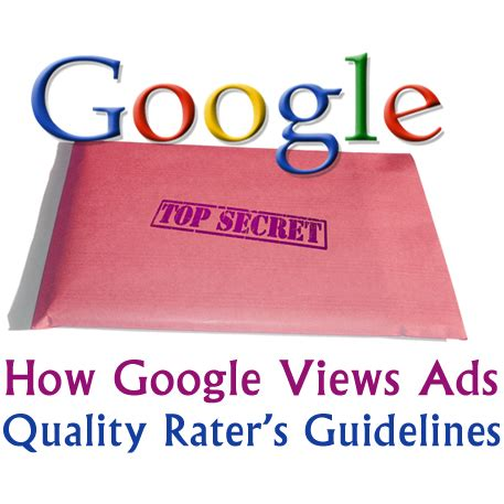 how google views advertising in quality rating guidelines