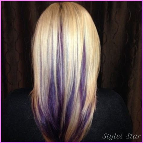 hair color pictures blonde purple lowlights blonde hair with purple lowlights stylesstar com