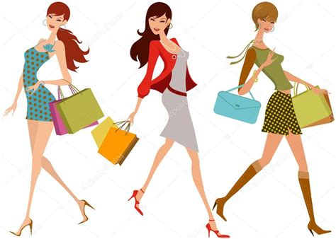 Shopping Mode by Filles Shopping Mode Image Vectorielle 13112273