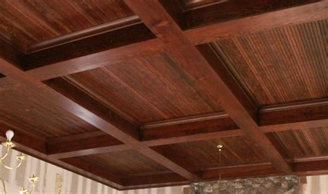 How Many Ceiling Tiles In A Box by Wood Box Beam Ceiling Diy Wood Boxes