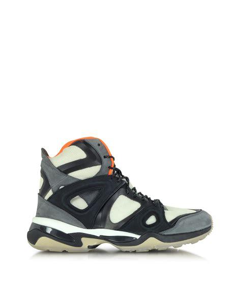 mcqueen sneakers mens mcqueen x white orange and black mcq run