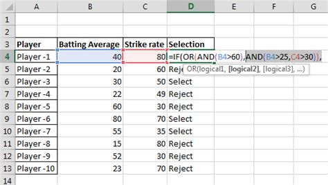 Excel Tutorial Using The If And And Or Functions | best excel tutorial nested if with combined and or