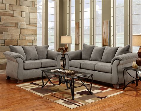 sensations grey sofa loveseat
