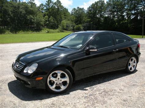 buy used 2002 black mercedes c230 kompressor coupe 2