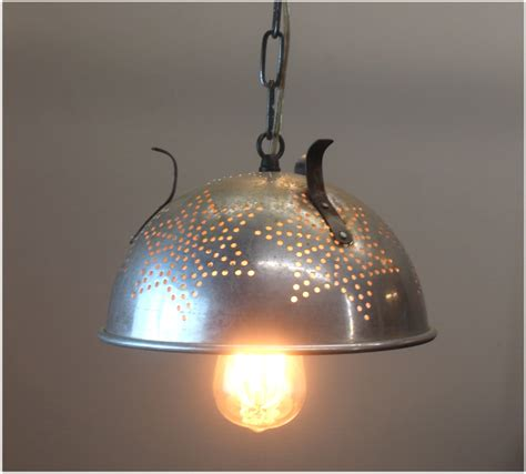 Colander Light Fixture Vintage Retro Colander Strainer Pendant Light Fixture Repurposed Ceiling L The Bay