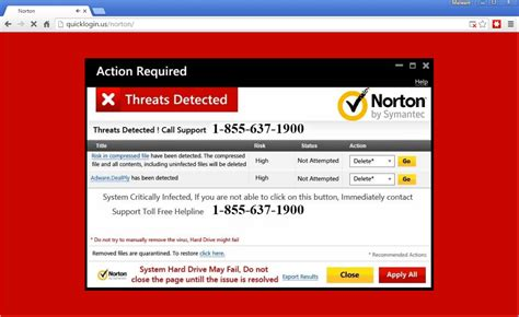 tech support scammers lure users with norton warnings