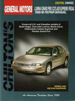 auto manual repair 1996 pontiac grand prix auto manual 1988 1996 lumina grand prix cutlass supreme regal chilton s manual