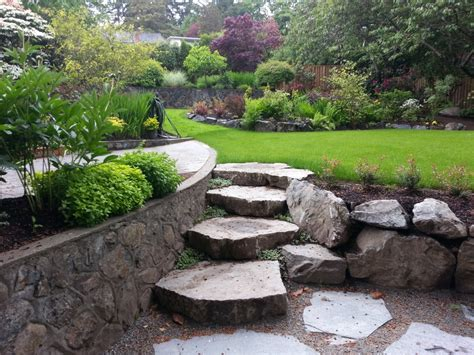 Landscape Rock Bc Custom Stairs Arbutus Road Bc Garden City