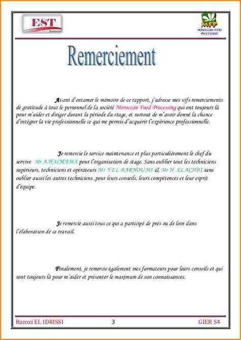 Exemple Lettre De Remerciement Stage Bac Pro 8 Exemple Rapport De Stage Bac Pro Lettre De Demission