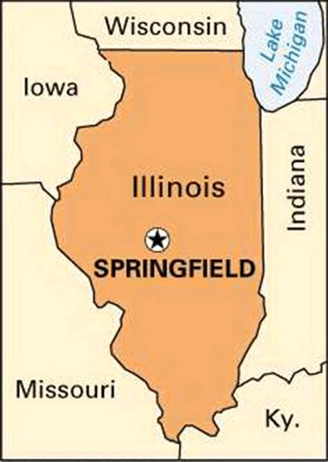 Records Springfield Il Map Springfield Il My