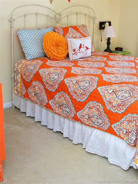 turquoise and orange bedding bargain burlap and turquoise and orange gets me every time