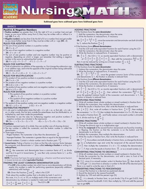 Jam Math Formula nursing math this 6 page guide takes the mystery out of the different areas of math that are