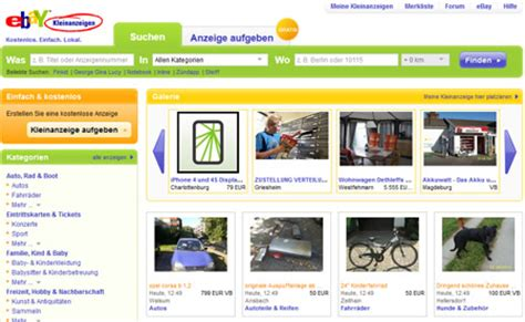 ebay kleinanzeigen login ebay kleinanzeigen mein login