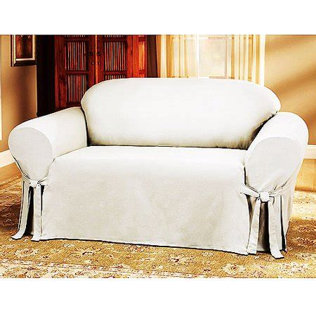 Cotton Sofa Slipcover by Mainstays Cotton Duck Sofa Slipcover Walmart