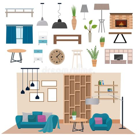 home interior vector 2018 modern living room interior with wood floor apartment furniture vector illustration stock