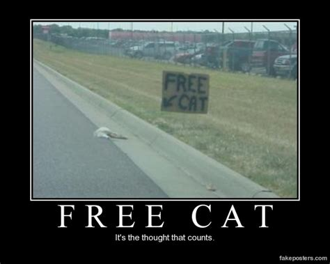free cat demotivational poster fakeposters