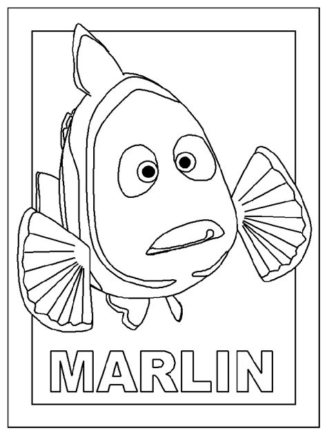 finding nemo coloring pages marlin nemo coloriage