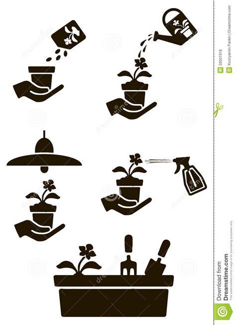 simboli fiori fiorista di simboli illustrazione vettoriale immagine