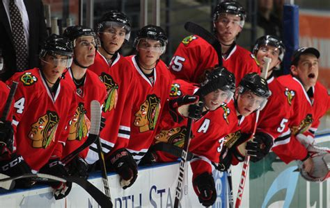 chicago blackhawks bench chicago bench pictures nhl rookie tournament chicago