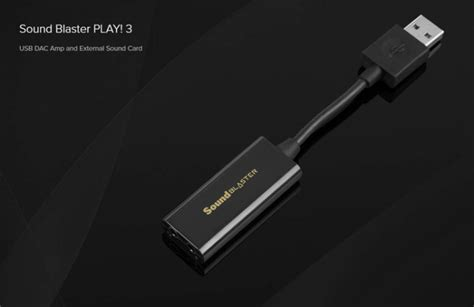 Creative Sound Blaster Play 3 Usb Soundcard Usb Dac new sound blaster play 3 usb sound card with dac from creative play3r