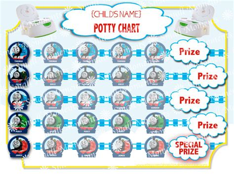 printable train stickers thomas potty training sticker chart instant by