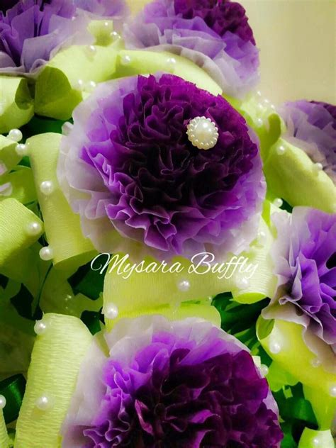 bunga telur design baru bunga telur tisu exclusive theme gradient purple green