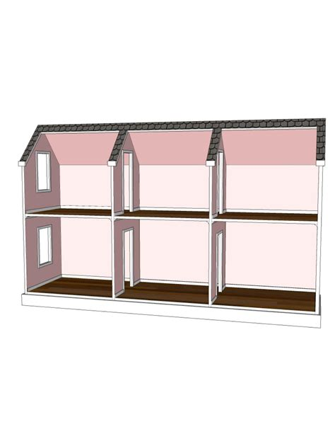 plans for a doll house doll house plans for american girl or 18 inch dolls 6 room