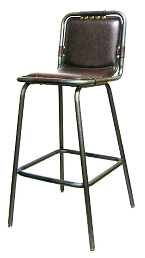 industrial metal bar stools with backs padded seat and back industrial metal upholstered bar stool