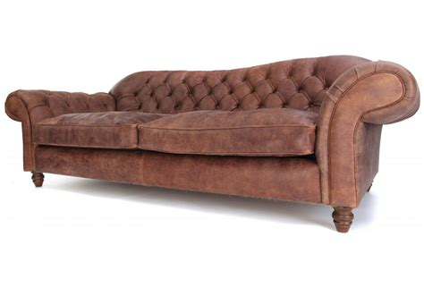 st george rustic leather 4 seater chesterfield sofa from