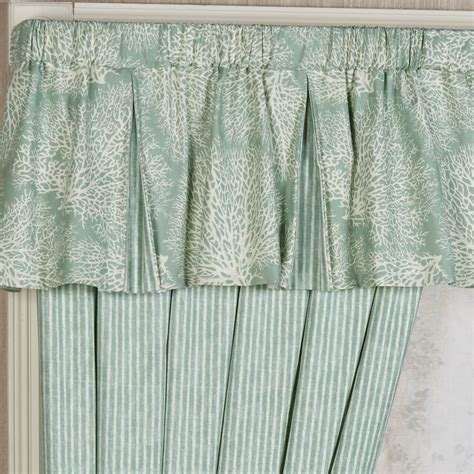 Coastal Valance antigua coastal pleated valance window treatment