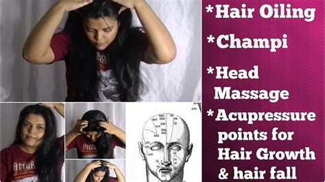 pressure points hair growth heavy hair oiling champi head massaging acupressure