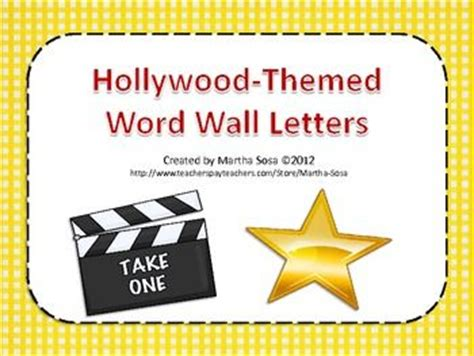printable hollywood letters hollyword wall letters hollywood theme word walls and