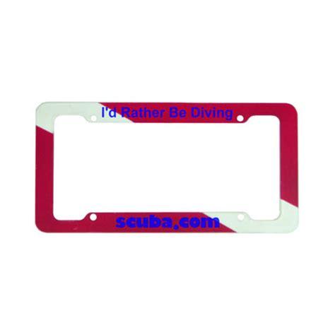 regulator boats license plate scuba dive flag license plate frame