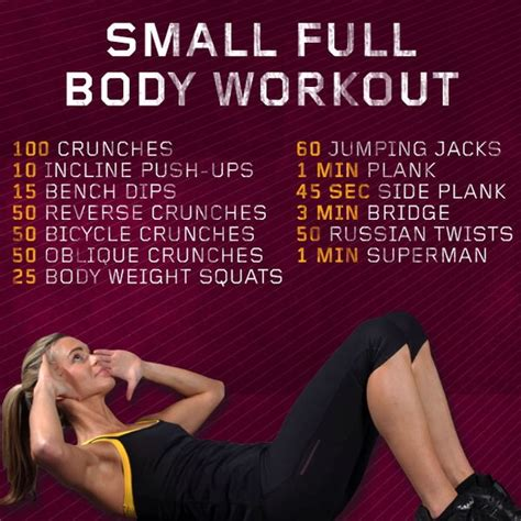 Small Home Workouts Small Workouts To Get You That Summer Trusper