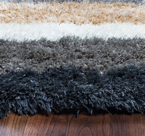 Blue Grey Brown Area Rug Commons Multi Stripe Pattern Area Rug In Grey Blue Brown White 5 X 8