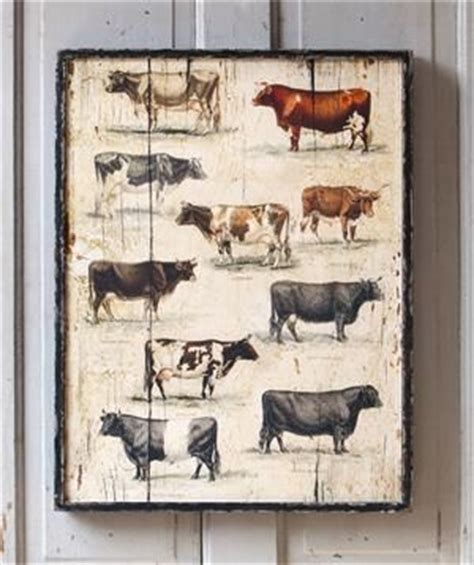 country style artwork 12 best images about vintage style cow wall decor and home
