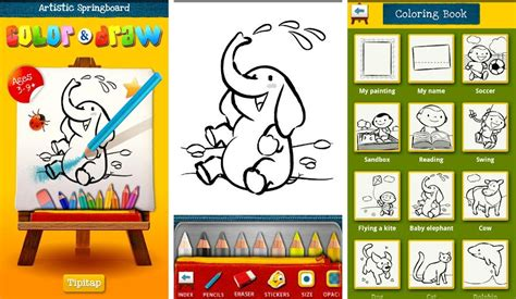 Best Android Apps For Freehand Drawing Or Doodling Coloring Book App