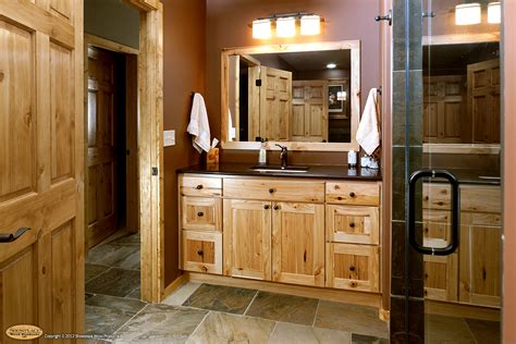 hickory bathroom cabinets cabinets rustic hickory appears again in this lower level