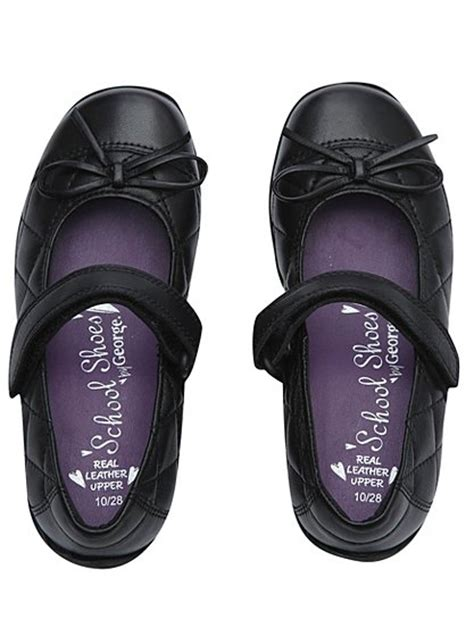 asda school shoes school quilted leather shoes school george at asda