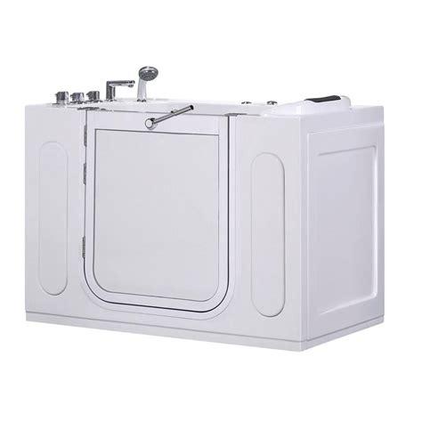 walk in whirlpool bathtub aston wt622 left drain 4 ft walk in whirlpool bath tub in