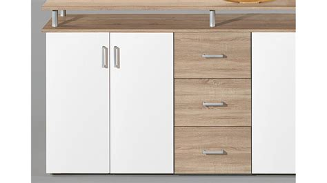 highboard kommode highboard lift kommode anrichte in sonoma eiche und wei 223
