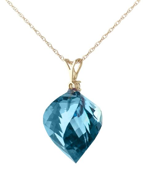 13 90 Ct Ruby 14k gold necklace with 13 90ct blue topaz pendant