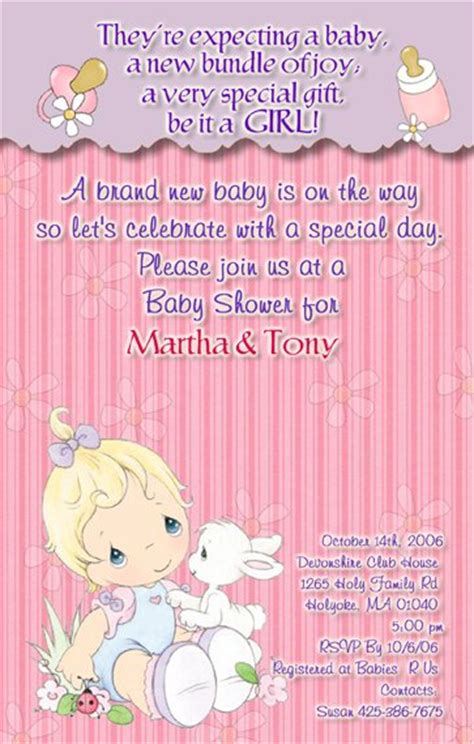 Precious Moments Baby Shower Invitations by Precious Moments Baby Shower Invitations Baby