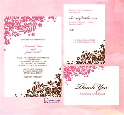 printable wedding invitation kits free 22 best wedding card images on pinterest invitation kits